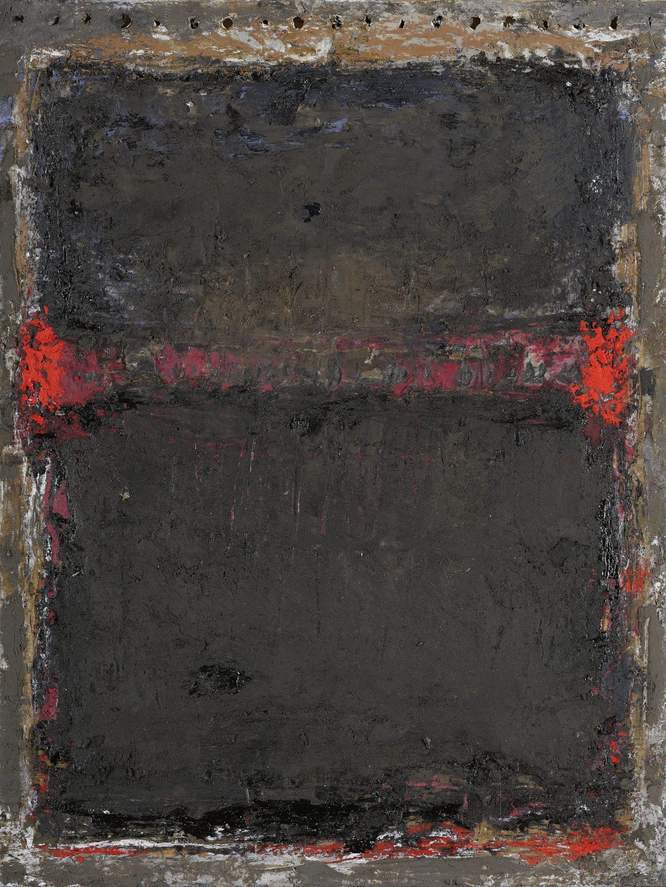 'Terre brûlée' Huile sur carton dim 24 x 32 cm