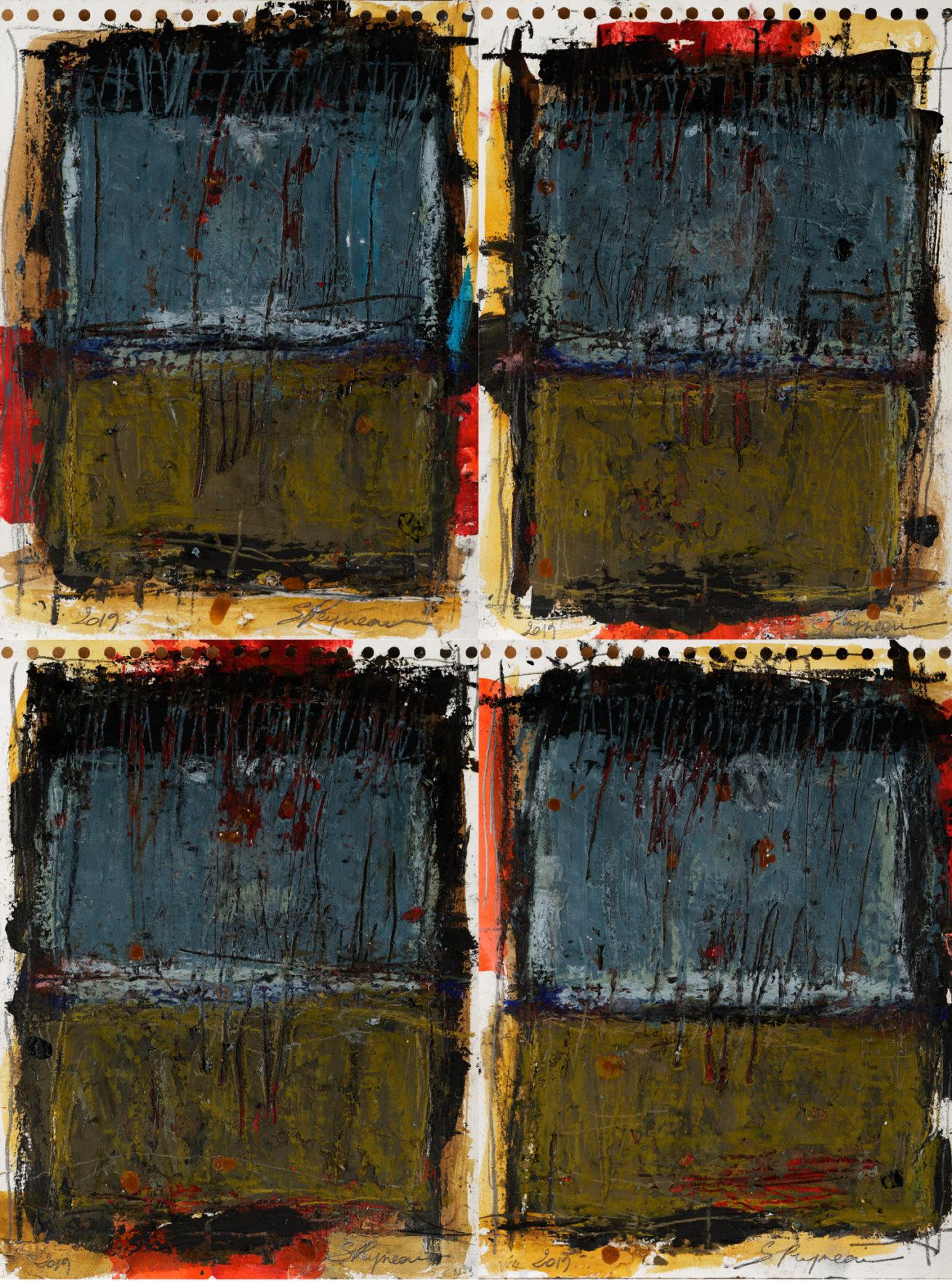 «Livre des prières» Huile sur papier Dim 24×32 cm x 4