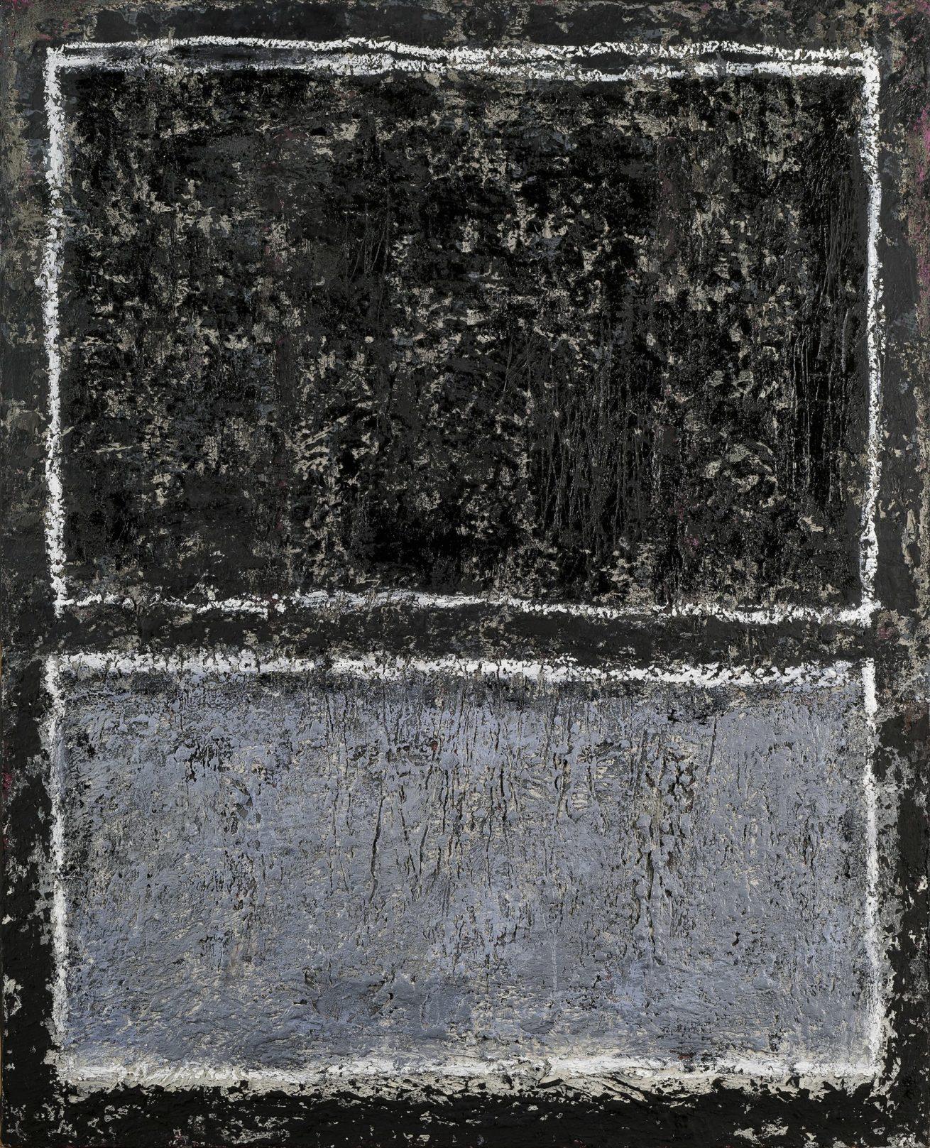 Série Noire N°6   Huile sur Toile Dim 81x100cm