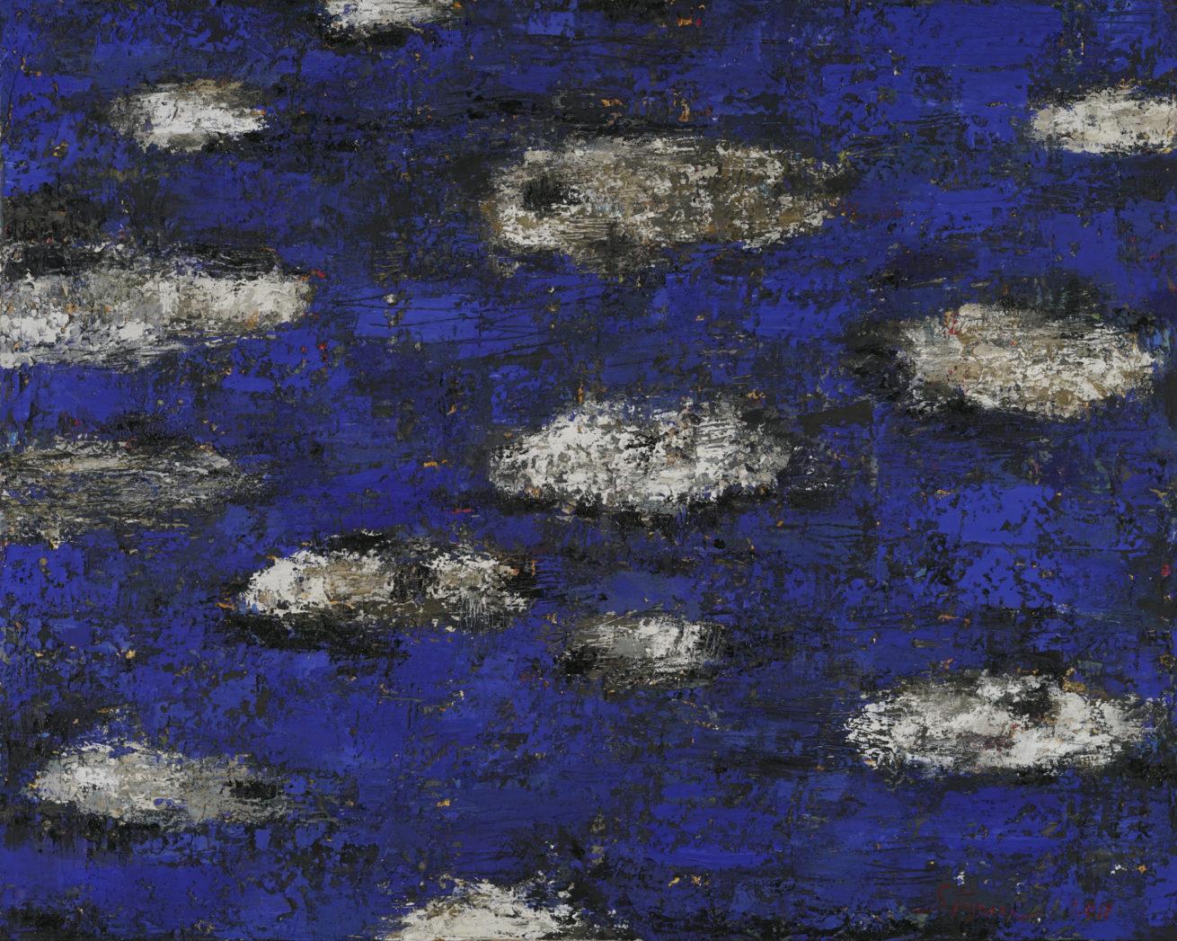 """Dans la série des jardins """" Les abîmes de l'océan """" Huile sur toile Dim 160 x 200 cm"""