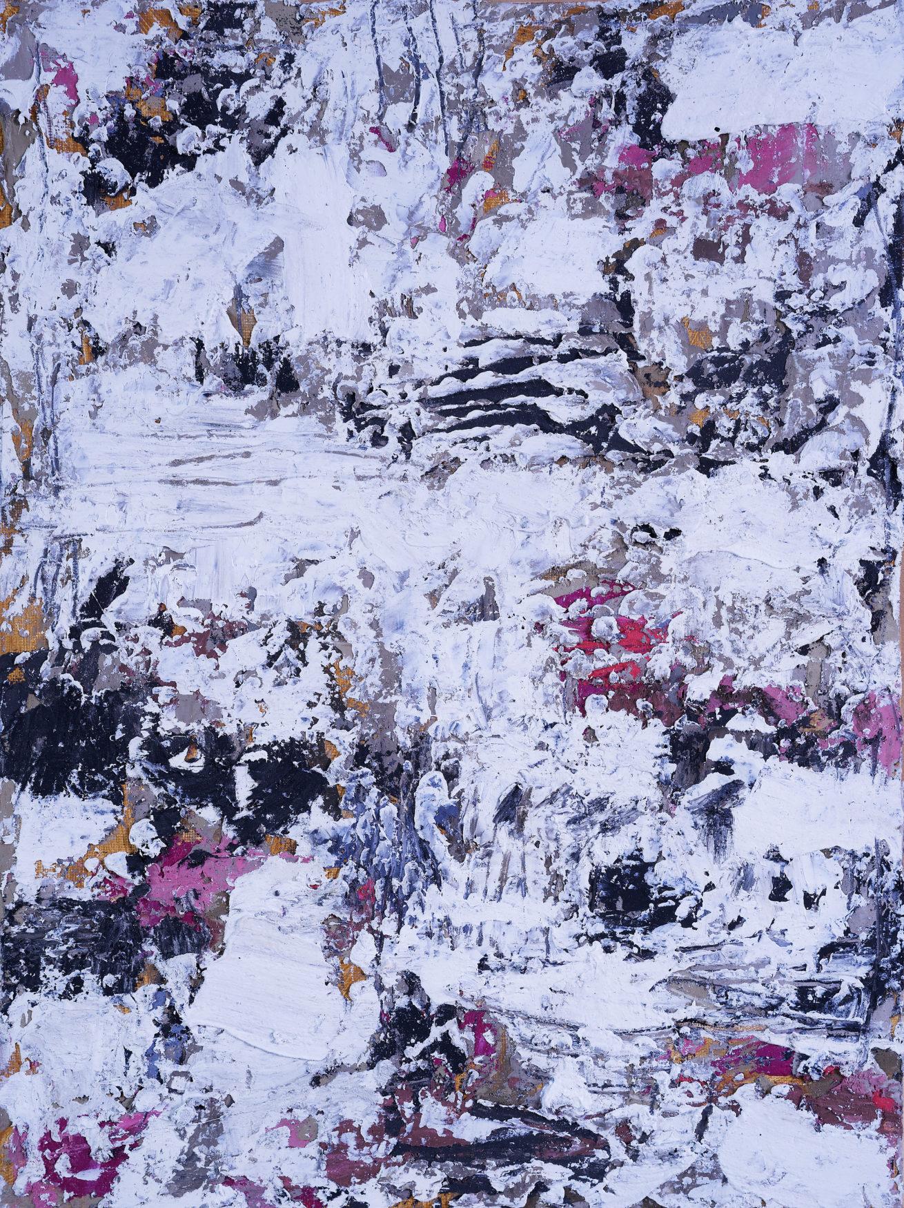 Mes jardins Huile sur papier  Diptyque Dim 50 x70 cm