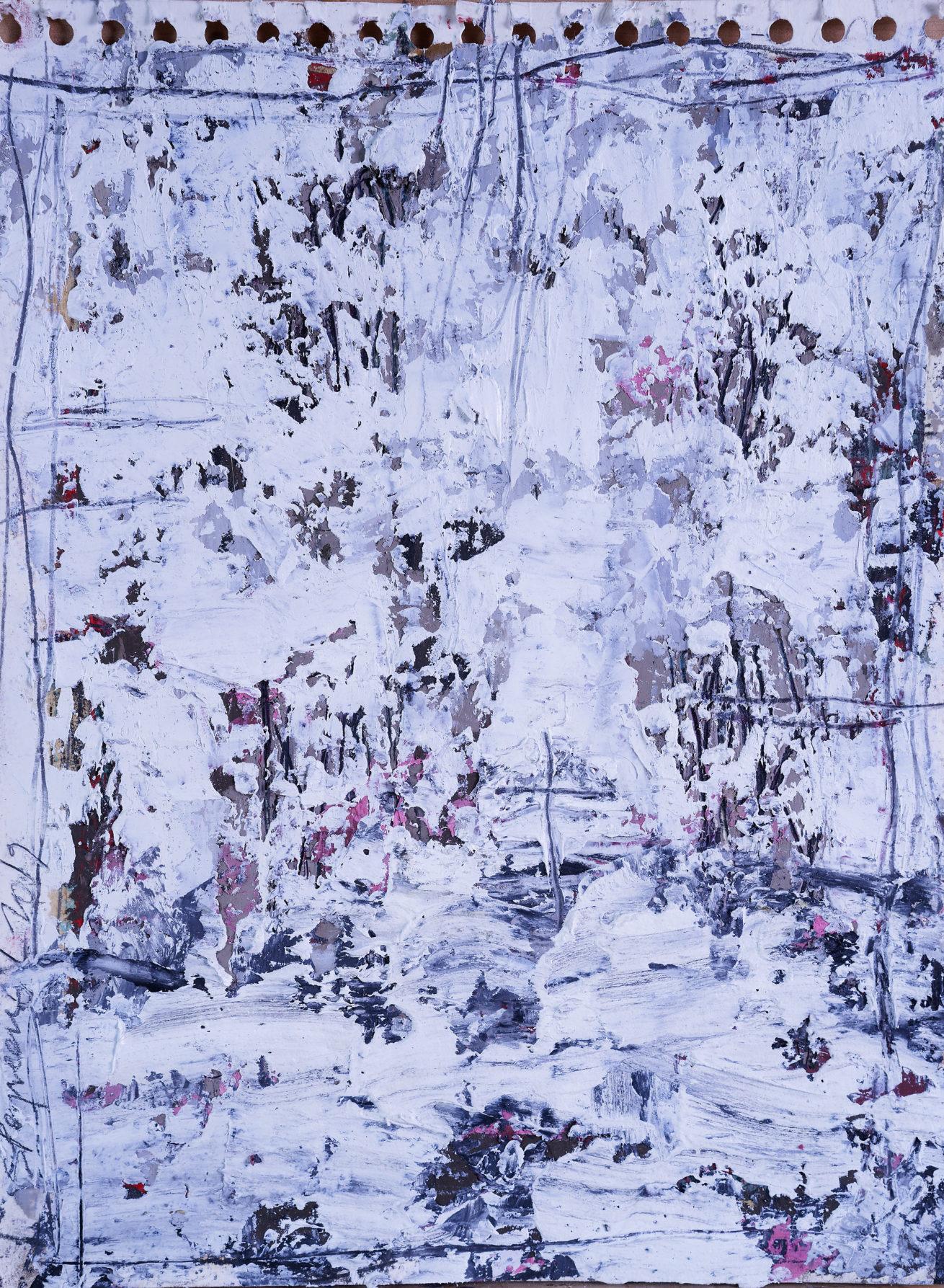 Mes jardins Huile sur carton toilé Dim 30 x 40 cm