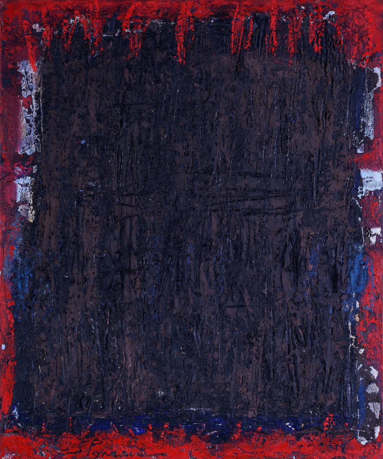 Terres brûlées Huile sur toile Dim 50 x 60 cm