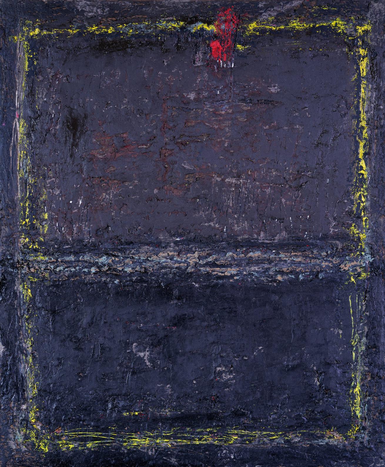Afrique noire Huile sur toile Dim 38 x46 cm