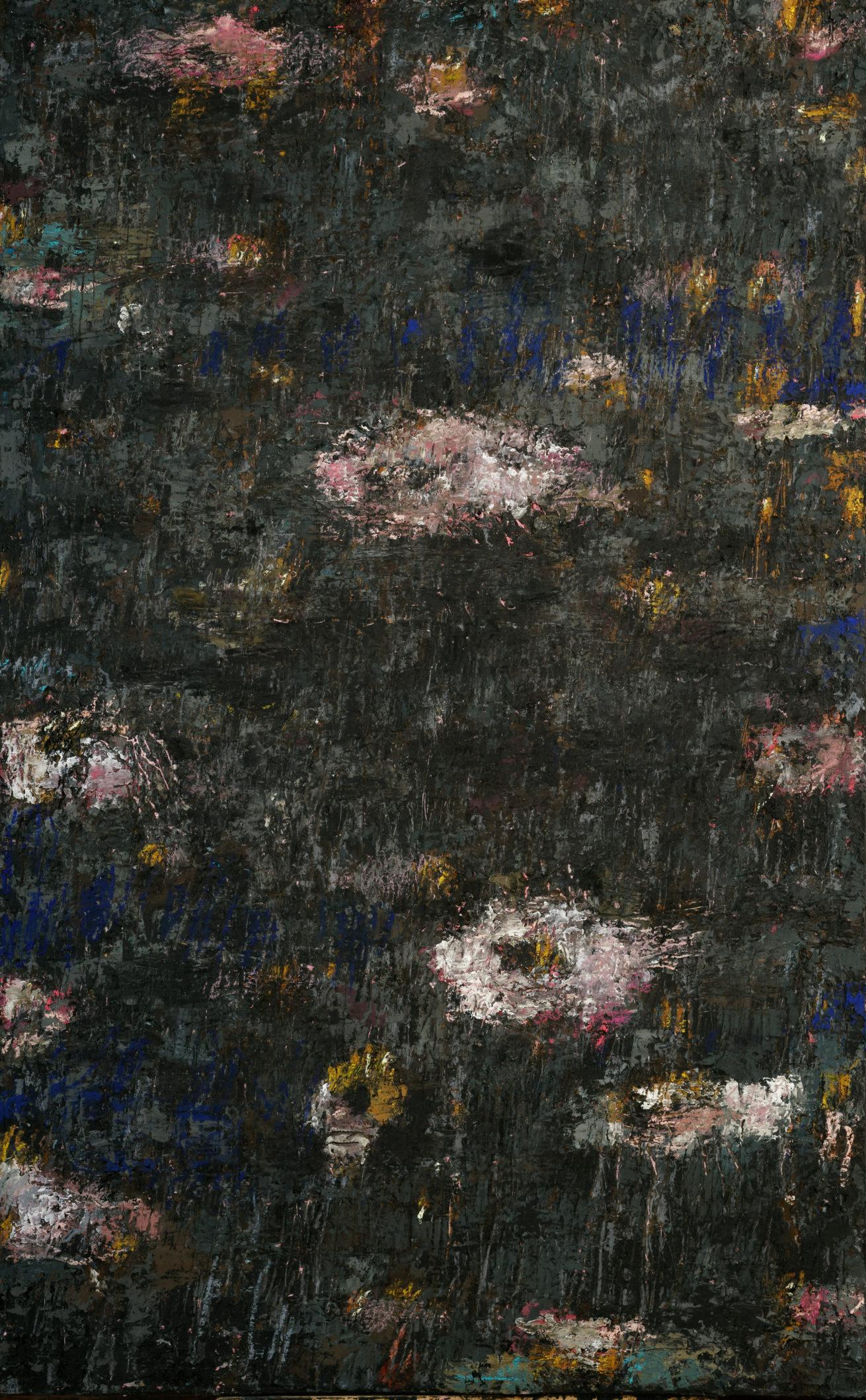 Jardin Marie Antoinette   Huile sur toile  Dim 100 x 160 cm